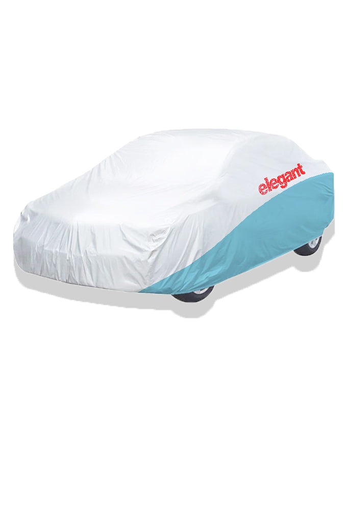 Elegant Car Body Cover WR White And Blue for Sedan Cars