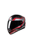 Steelbird Air Delta Full Face Helmet-Matt Black With Red