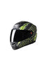 Steelbird Air Free Live Full Face Helmet-Matt Black With Green