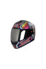 Steelbird Air Griffon Full Face Helmet-Glossy Yamaha Blue With Orange