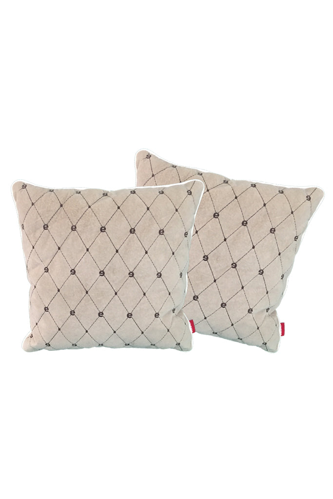 Velvet Comfy Cushion iGray and Cola (Set of 2) Style 1