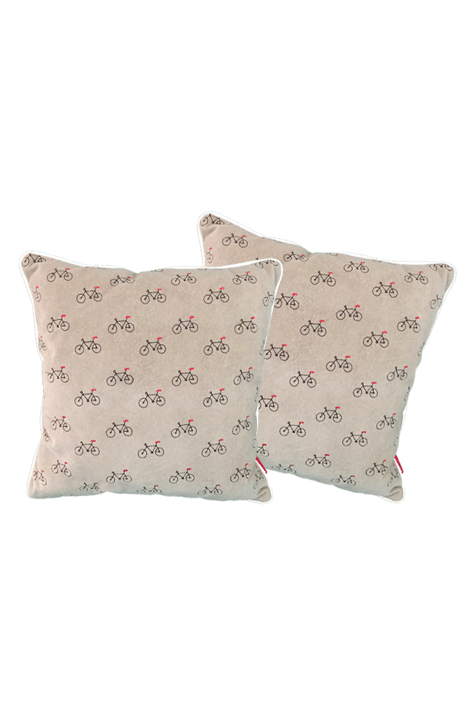 Velvet Comfy Cushion iGray and Cola (Set of 2) Style 2