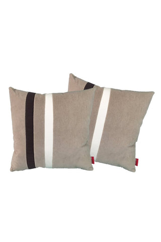 Velvet Comfy Cushion iGray and Cola (Set of 2) Style 3