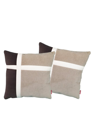 Velvet Comfy Cushion iGray and Cola (Set of 2) Style 4