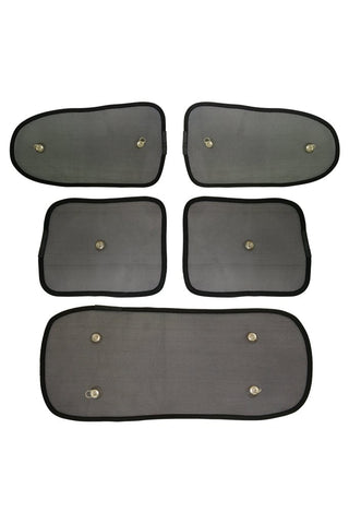 Elegant Universal Car Window Sunshades (Set of 5)