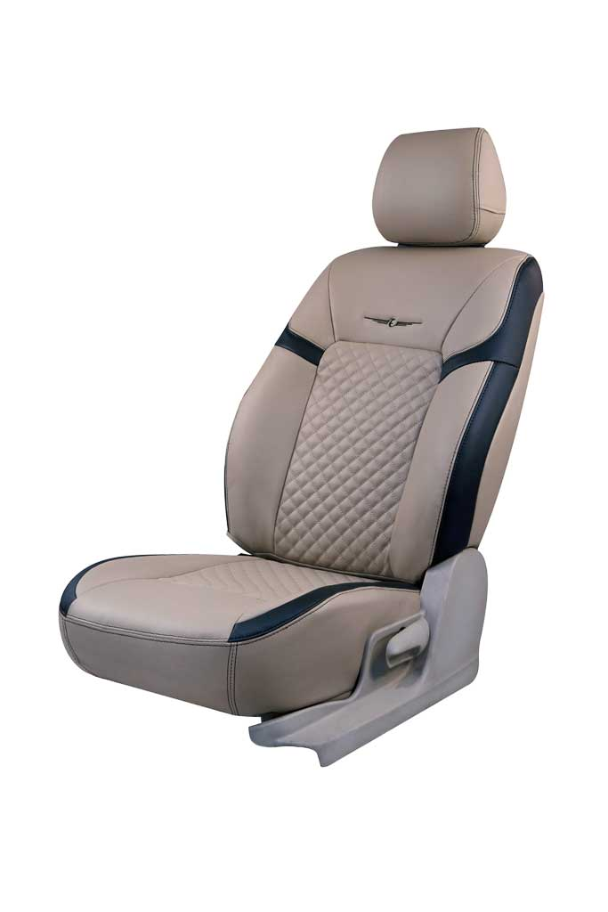Trend Star Art Leather Car Seat Cover Beige and Black