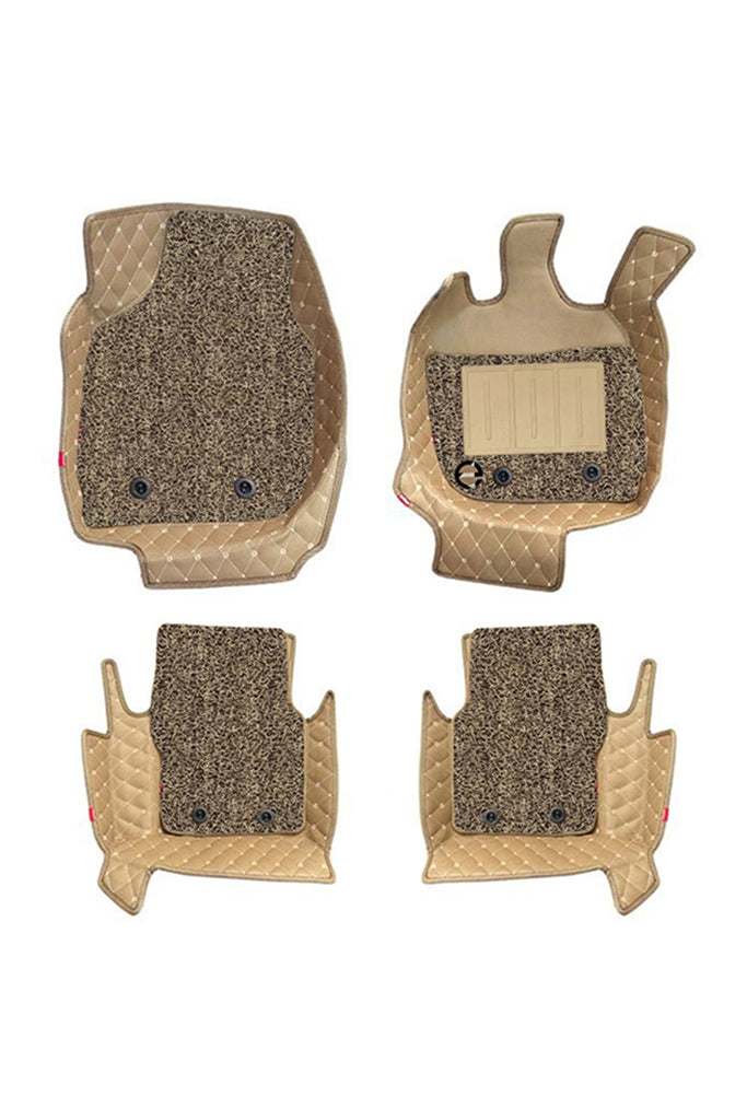 7D Car Floor Mat Beige (Set of 4)
