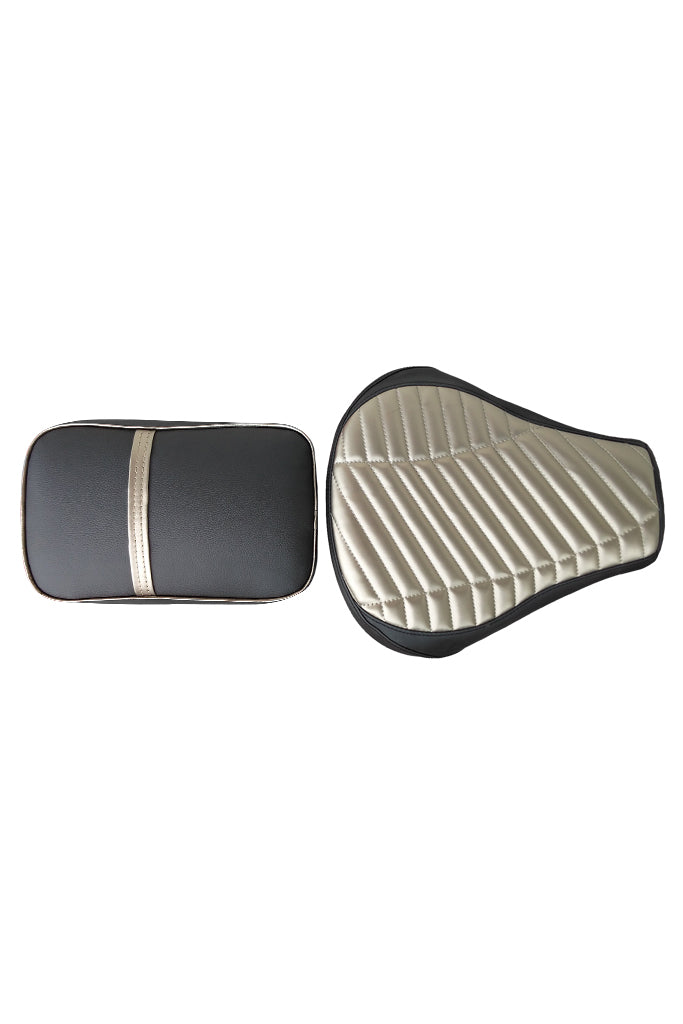 Dash Twin Bike Seat Cover Black & Gold for Bullet
