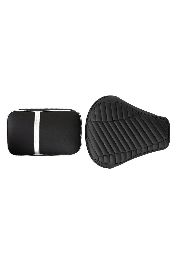 Dash Twin Bike Seat Cover Black & Silver for Bullet