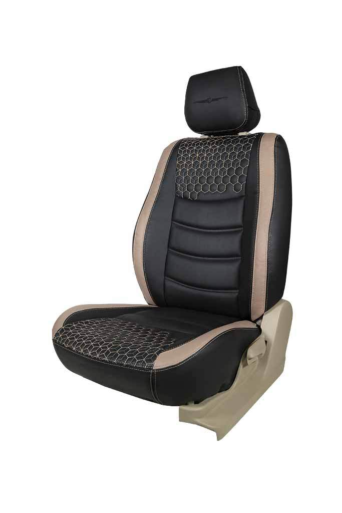 Glory Prism Art Leather Car Seat Cover Black and Beige
