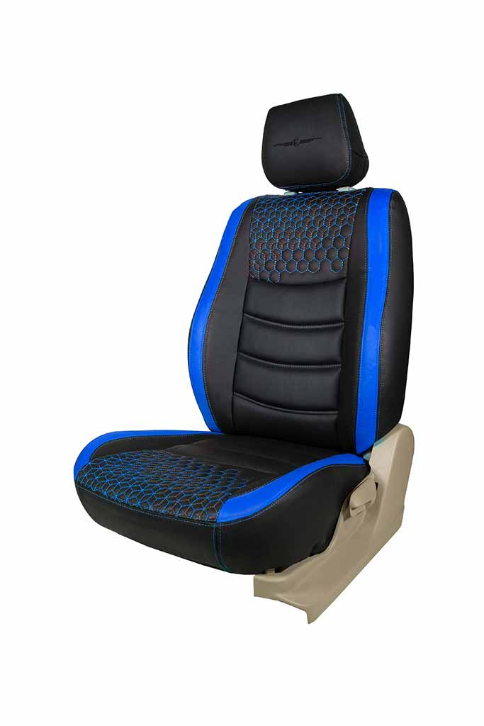 Glory Prism Art Leather Car Seat Cover Black and Blue