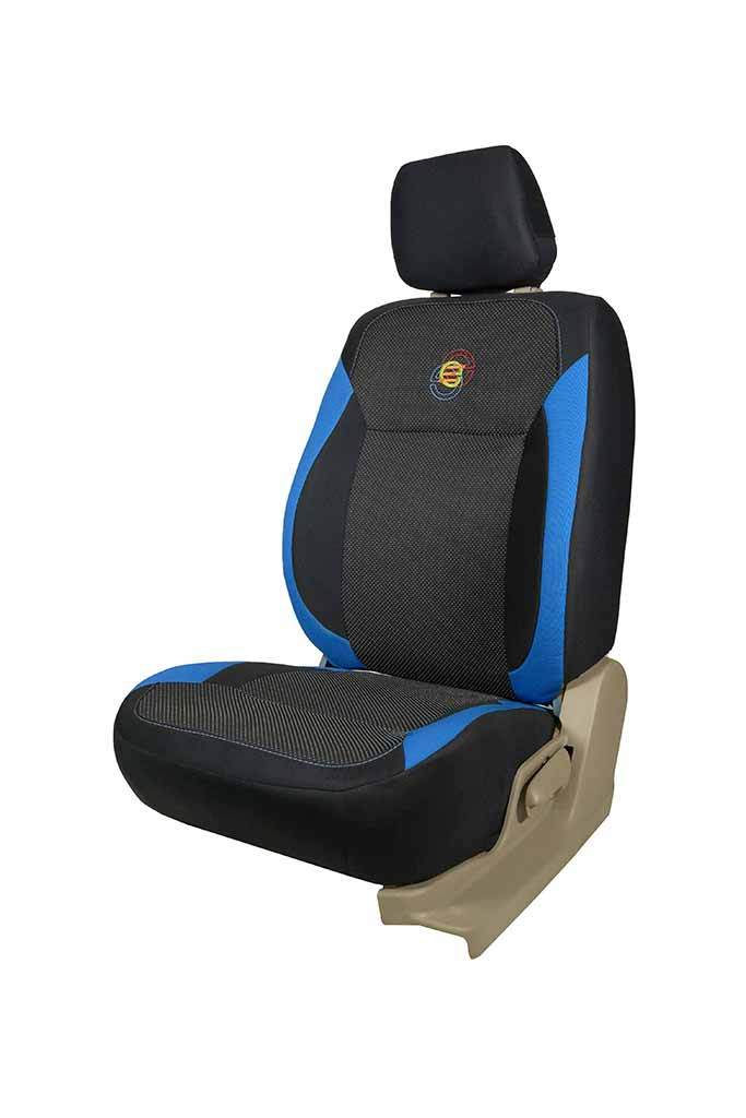 F1 Fabric Car Seat Cover Black and Blue
