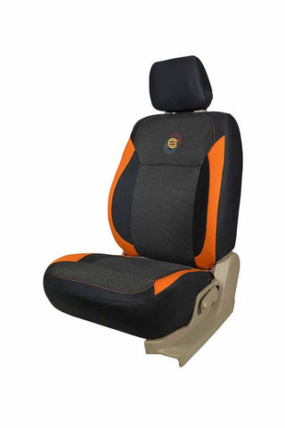 F1 Fabric Car Seat Cover Black and Orange