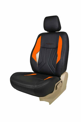 Glory Robust Art Leather Car Seat Cover Black and Orange