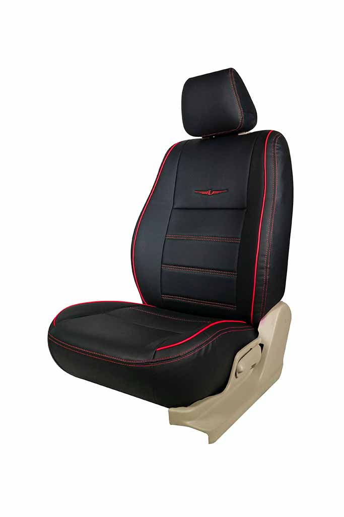 Vogue Urban Art Leather Car Seat Cover Black and Red