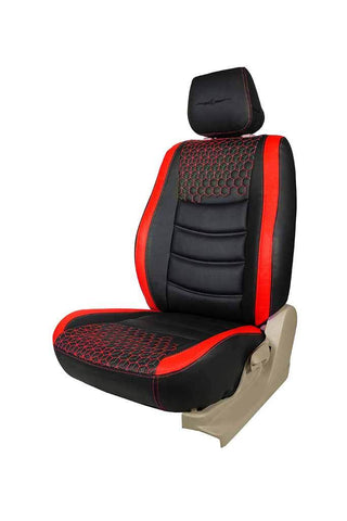 Glory Prism Art Leather Car Seat Cover Black and Red