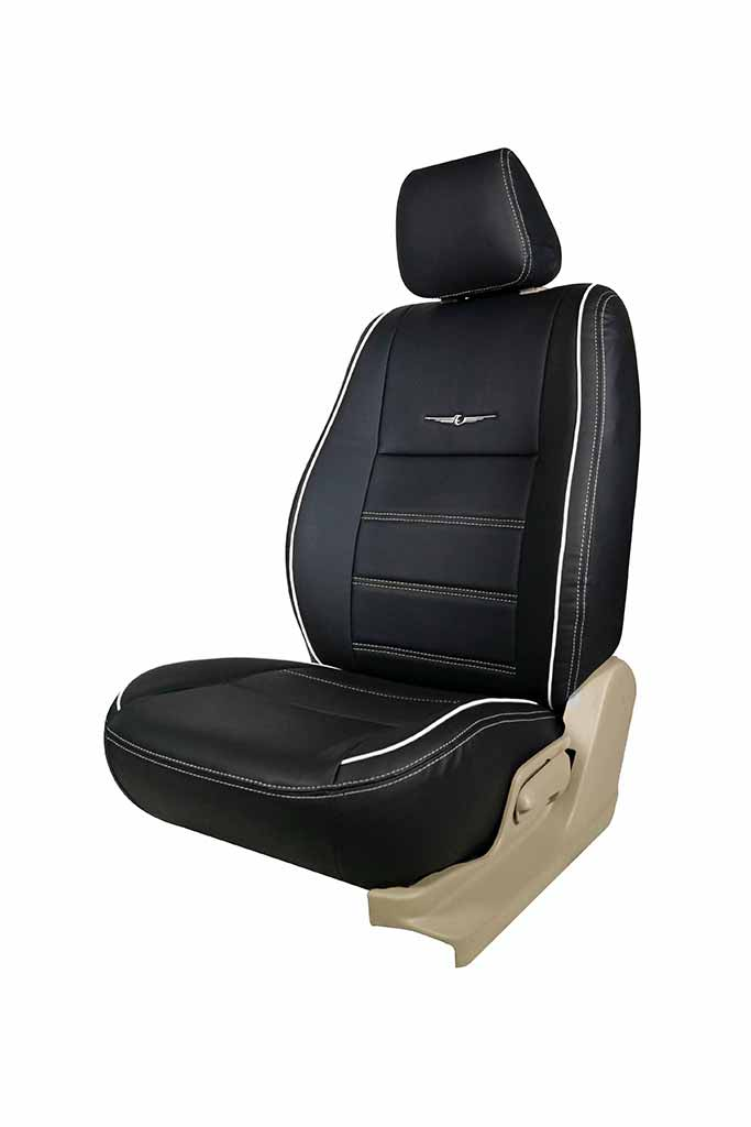 Nappa Magnum Art Leather Car Seat Cover Black and White