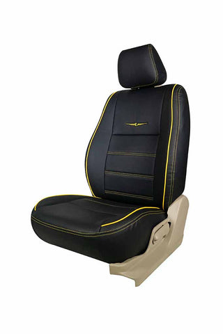 Vogue Urban Art Leather Car Seat Cover Black and Yellow