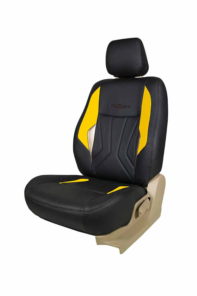 TOYOTA YARIS ALL MODELS PREMIUM DELUXE BLACK LEATHER LOOK CAR SEAT COVERS 1-1