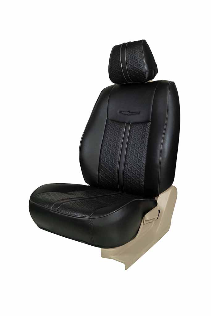Nappa Magnum Art Leather Car Seat Cover Black