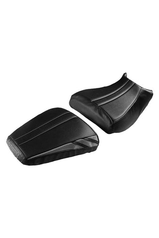 Bolt Sports Twin Bike Seat Cover Black and Silver for KTM Duke