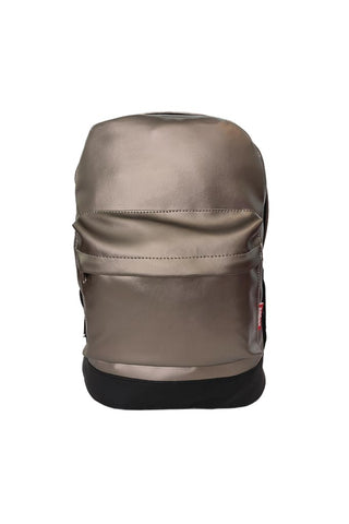 Leatherette Laptop Backpack Titanium and Black