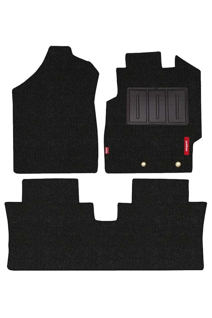 Carry Carpet Car Floor Mat Black (Set of 3)