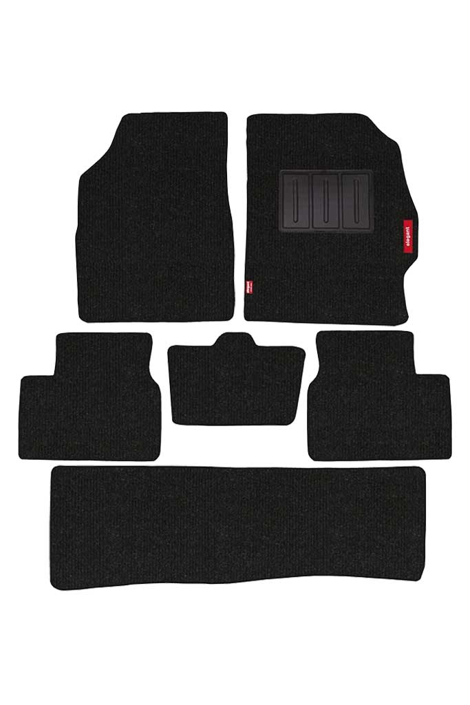 Carry Carpet Car Floor Mat Black (Set of 6)