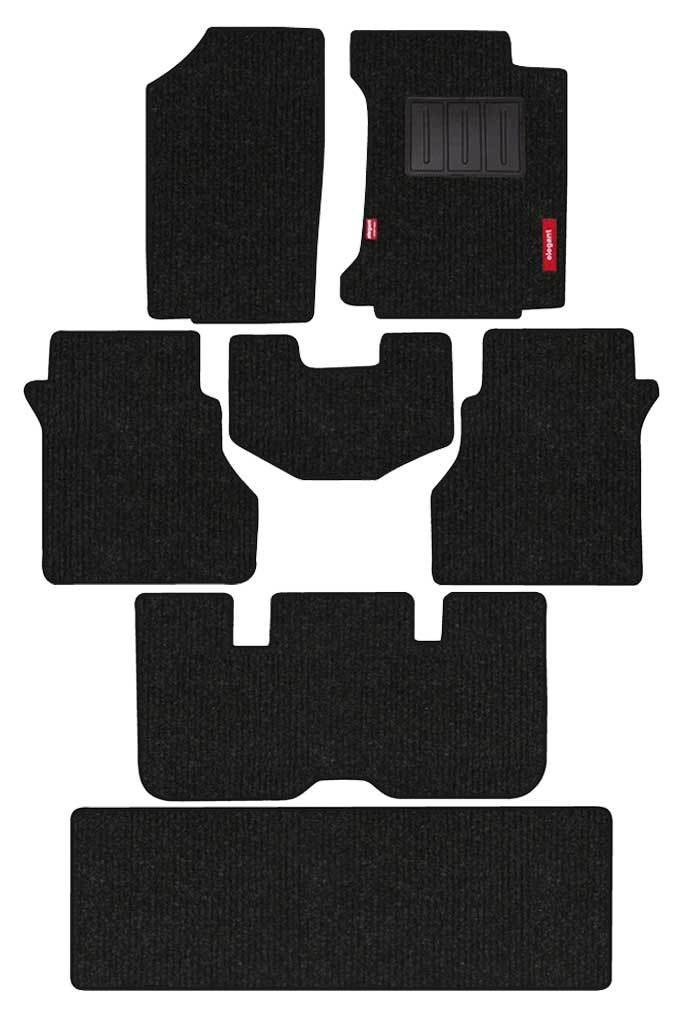 Carry Carpet Car Floor Mat Black (Set of 7)