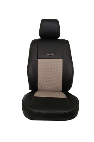 Trend Neo Champion Art Leather Car Seat Cover Black and Beige