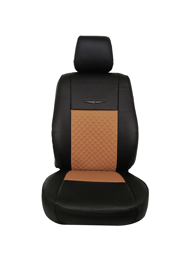 Trend Neo Champion Art Leather Car Seat Cover Black and Tan