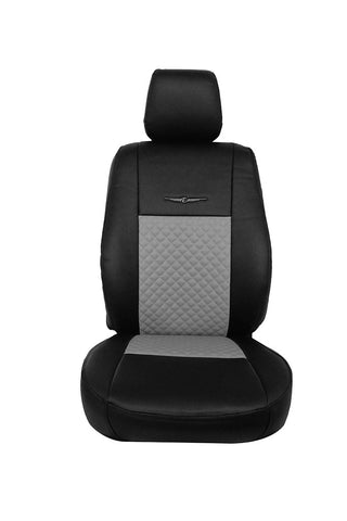 Trend Neo Champion Art Leather Car Seat Cover Black and Grey