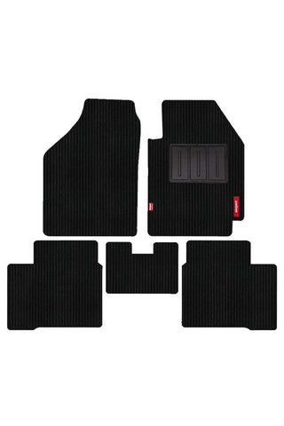 Cord Carpet Car Floor Mat Black (Set of 5)