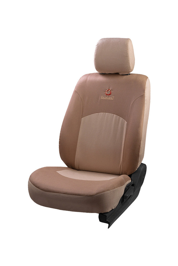 Cotton Satin Fabric Car Seat Cover Beige