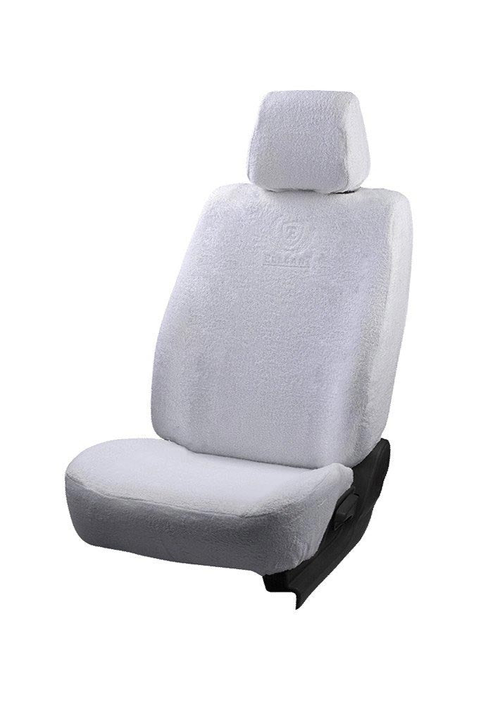 Towel Fabric Car Seat Cover White