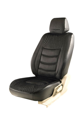 Veloba Crescent Fabric Seat Cover Black