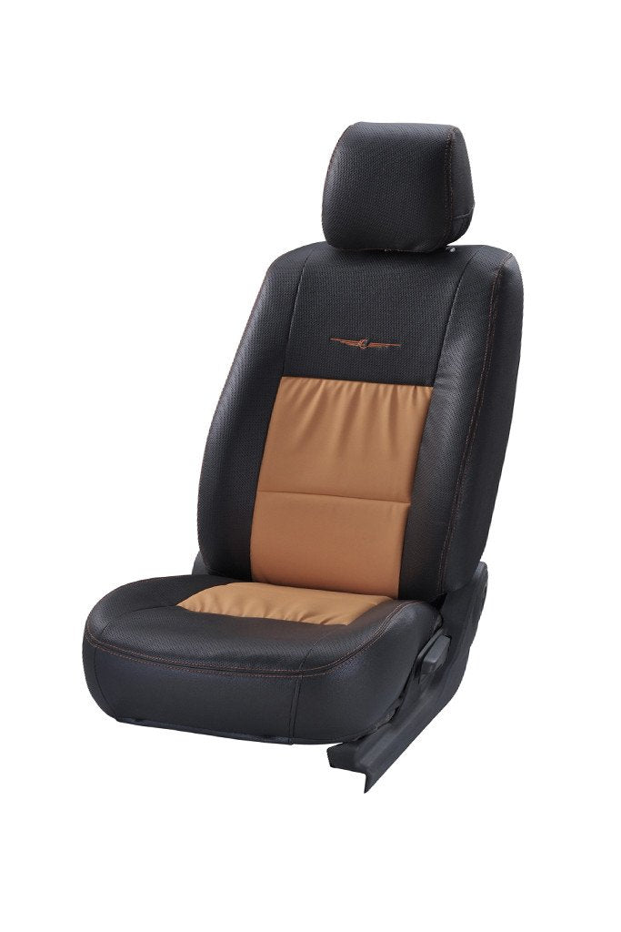 Trend Neo Gladiator Duo Art Leather Car Seat Cover Black and Beige