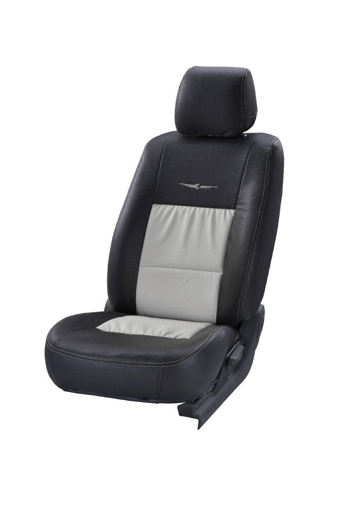 Trend Neo Gladiator Duo Art Leather Car Seat Cover Black and Silver
