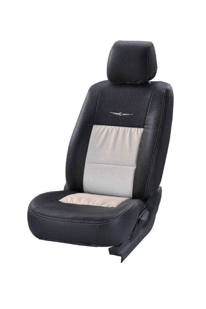 Trend Neo Gladiator Duo Art Leather Car Seat Cover Black and White