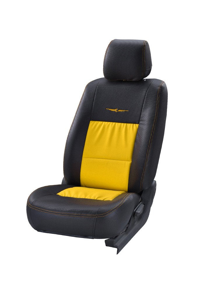 Trend Neo Gladiator Duo Art Leather Car Seat Cover Black and Yellow