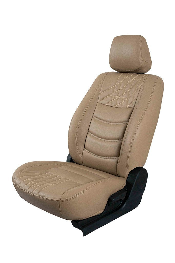 Glory Colt Art Leather Car Seat Cover Beige