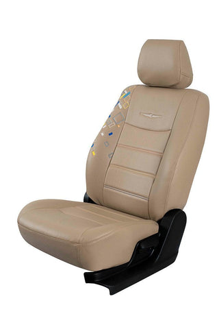 Glory Cub Art Leather Car Seat Cover Beige