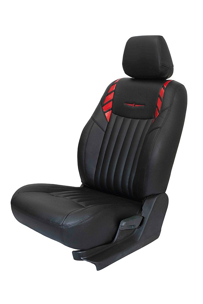 Glory Leo Art Leather Car Seat Cover Black and Red