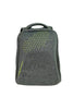 Performance Anti-Theft Hard Shell Backpack Grey and Green