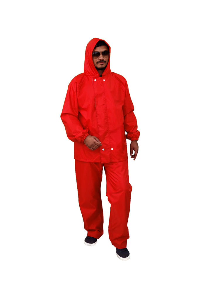 Reversible Rain Suit Red & Grey