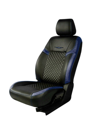 Trend Star Art Leather Car Seat Cover Black and Blue