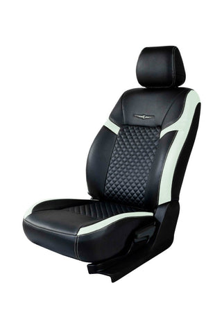 Trend Star Art Leather Car Seat Cover Black and Silver