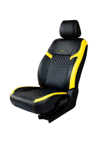 Trend Star Art Leather Car Seat Cover Black and Yellow