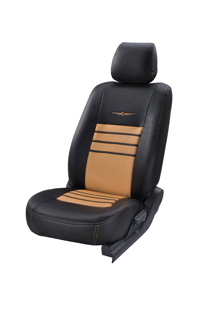 Trend Neo Boxer Art Leather Car Seat Cover Black and Beige