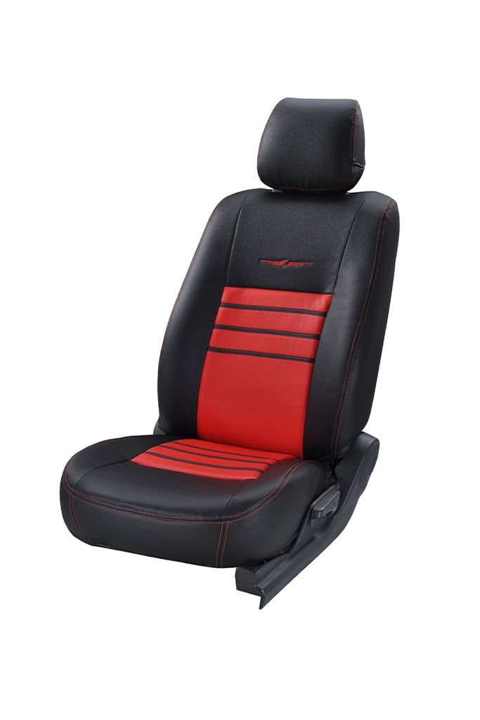 Trend Neo Boxer Art Leather Car Seat Cover Black and Red